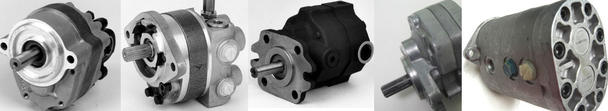 Hydraulic gear pumps and piston pumps